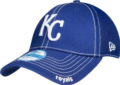 MLB Kansas City Royals Neo Fitted Baseball Cap, Royal, Medium/Large (Hats City Royals Kansas)