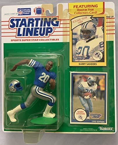 1990 KENNER STARTING LINEUP NFL BARRY SANDERS DETROIT LIONS MOC ()