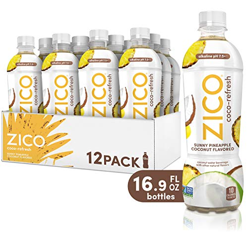 ZICO Coco-Refresh Sunny Pineapple Coconut Flavored, 16.9 fl oz (Pack of 12)