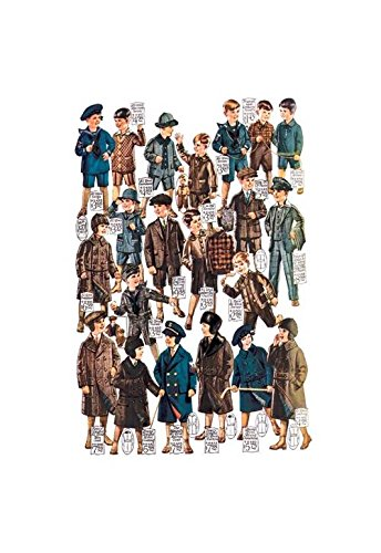 Buyenlarge Little Boys Modeling Garments Print (Canvas 24x36) (Modeling Little Garments Boys)