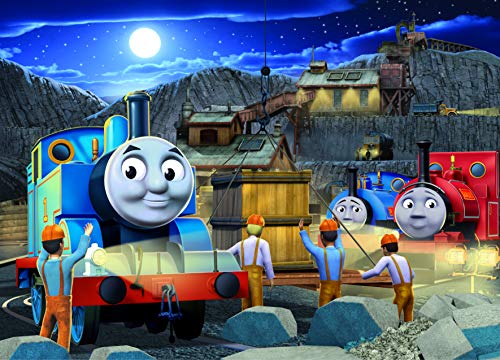 Ravensburger Thomas & Friends Night Work Glow-in-The-Dark 60 Piece Jigsaw Puzzle for Kids  Every Piece is Unique, Pieces Fit Together Perfectly