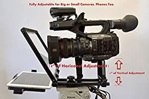 Teleprompter Simple Professional Portable use Any Tablet, iPad or Phone   70/30 Beam Splitter Glass