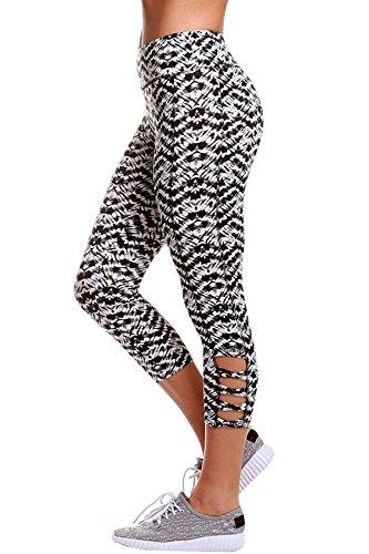 NEW Mesdames noir avant en dentelle effet mouillé pour femme Club Wear Vêtements Casual Wear Legging pour femme Taille 8–10