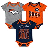 NFL by Outerstuff NFL Denver Broncos Newborn & Infant Little Tailgater Short Sleeve Bodysuit Set Orange, 18 Months