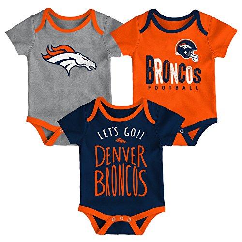 NFL by Outerstuff NFL Denver Broncos Newborn & Infant Little Tailgater Short Sleeve Bodysuit Set Orange, 3-6 Months by NFL by Outerstuff