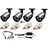 Q-SEE QCA7209B HD 720p Bullet Camera Heritage/Analog -4PK