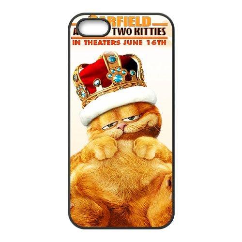 Garfield 008 coque iPhone 4 4S cellulaire cas coque de téléphone cas téléphone cellulaire noir couvercle EEEXLKNBC25211