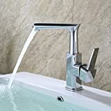 LHbox Basin Mixer Tap Bathroom Sink Faucet Basin taps wash-Basin hot Cold air Mixing Water Valve Single Hole Basin Bathroom Cabinet to Rotate The Faucet