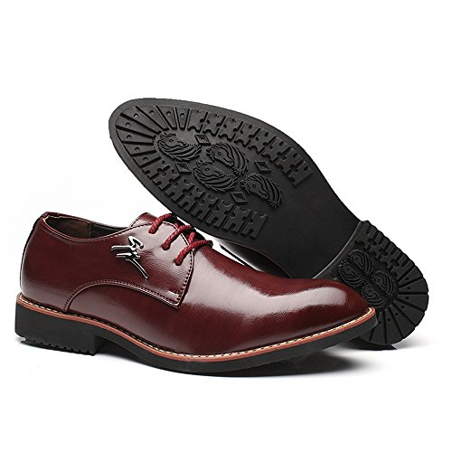 des 39 Pour Noir Mat Simples Pu D'affaires Oxfords Doublées Chaussures Lace Cuir En Hommes color Du Talon Block Jialun Vin Vamp Up Taille Eu Pointu dwxfqC1d