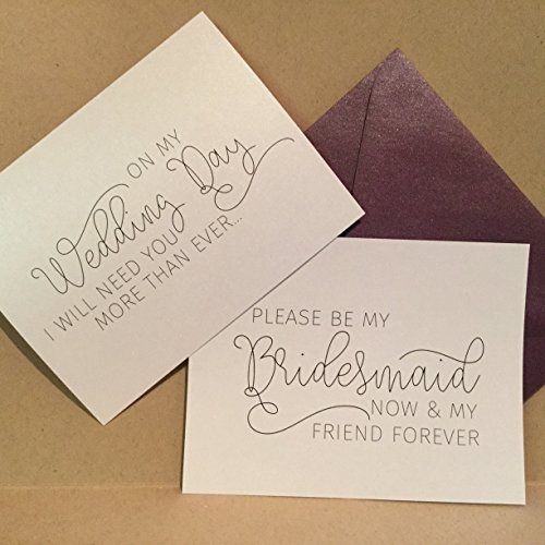 Custom Will You Be My Bridesmaid Card / Maid of Honor Cards / Bridesmaid Flower Girl Personalized Card Invite Bridesmaid Proposal {now and (Now And Forever Bridal)