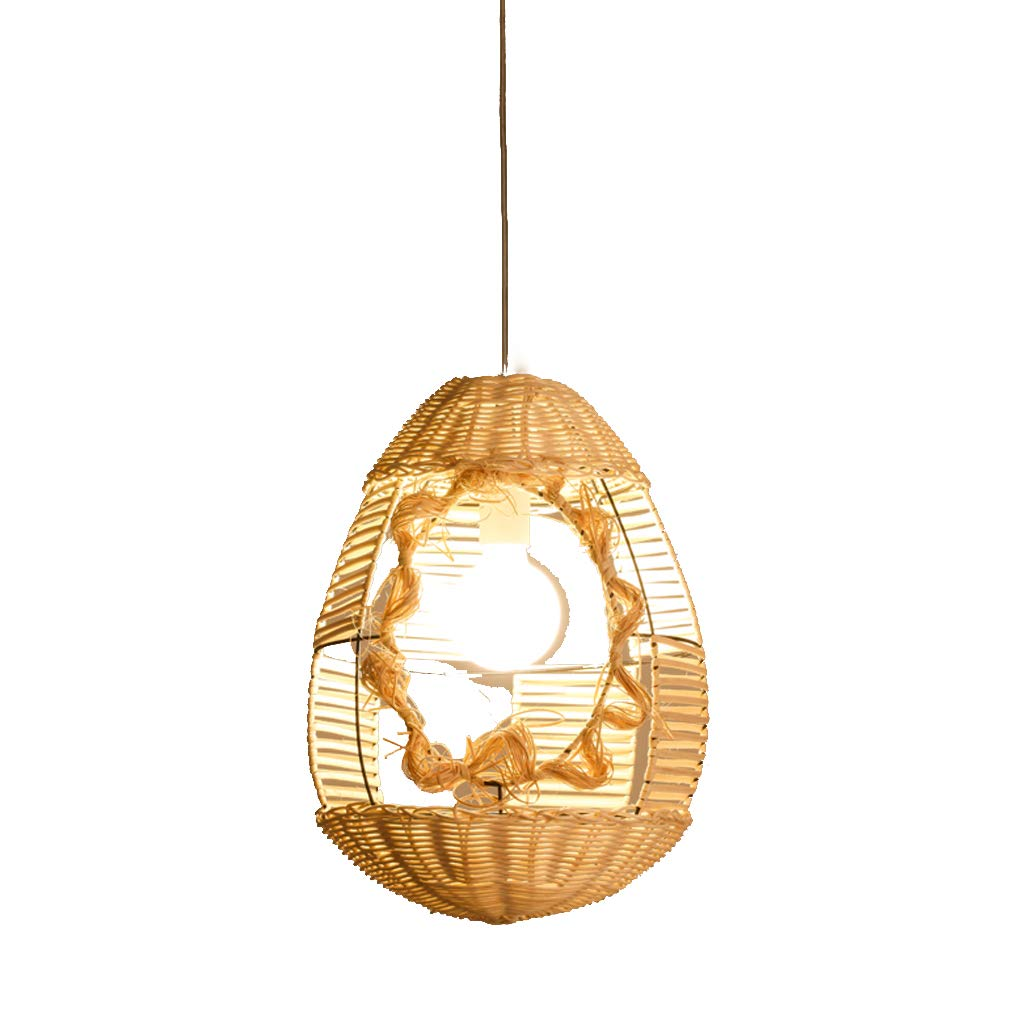 New Chinese Lantern Creative Personality Restaurant Lights, Vintage Bamboo Rattan Lights Southeast Asian Chandelier Bird Cage Chandelier