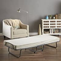 Perlato Folding Bed Rollaway Twin Guest, Cream