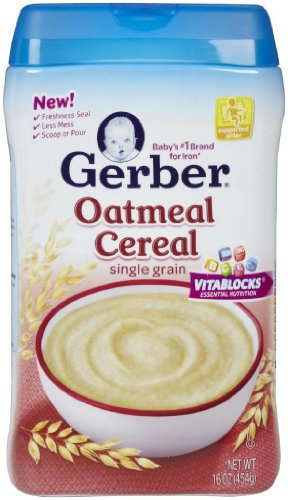 Gerber 1st Foods Baby Cereal-Oatmeal-16 Ounces-6 Pack