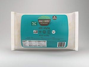 Miracle Noodle Ziti Noodles, 7 Ounce - 6 per case.