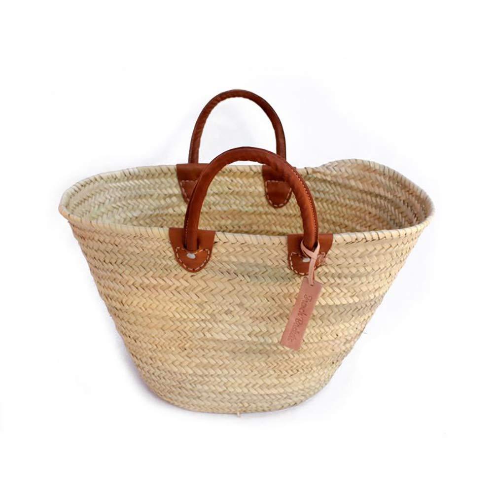 Classic Straw Market Basket French Baskets