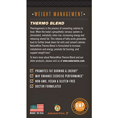 NatureWise Thermo Blend Dietary Supplement, 120 Count