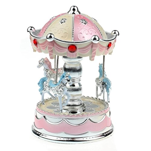 Sixpi Carousel Music Box Smart Design Merry-Go-Round Music Box Christmas Birthday Gift ()