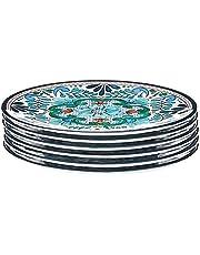 "Certified International Talavera 9"" Salad/Dessert Plate (Set of 6), Multicolor"