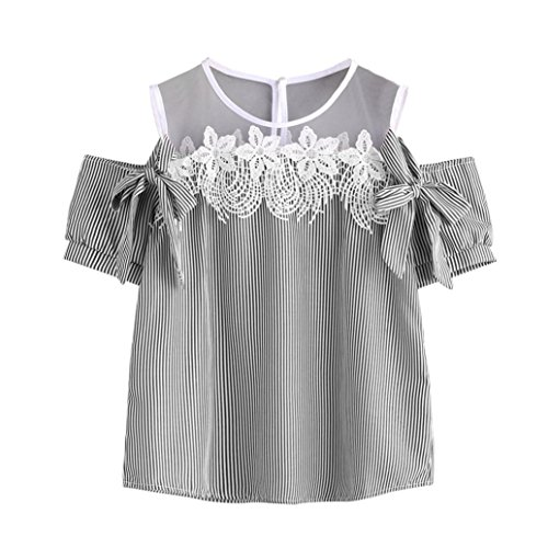 Beaded Bella Skirt (2018 Women Short Sleeve Blouse Off Shoulder Tops Lace Striped T-Shirt Casual)