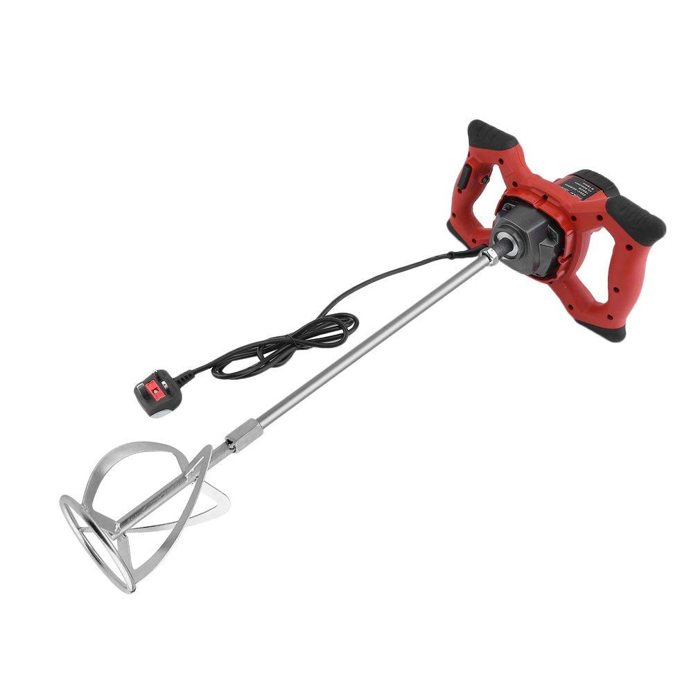 1800W Plaster Mixer Paint Cement Mortar Mixing Electric Single Paddle Stirrer
