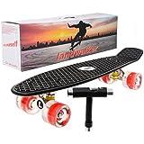 "Landwalker 22"" Complete Skateboard Banana Cruiser Galaxy Skateboards Boys Girls Kids Board"