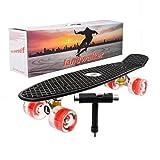 Landwalker 22″ Complete Skateboard Banana Cruiser Galaxy Skateboards Boys Girls Kids Board