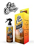 Olde Chicago Wood Cleaner and polisher. Wood milk Removes scuff marks, safe for wood cabinets, wood floors and wood furniture! 8oz with sprayer