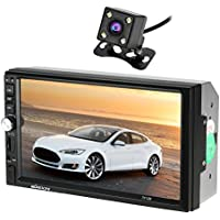 KKmoon 7 Inch 2 Din HD BT Car MP5 Radio Player Multimedia Entertainment USB/TF FM Aux Input with Rearview Camera