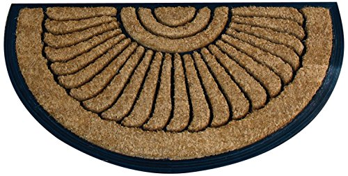 - No Trax Designs C04S1830CR Crescent Cocoa Door Mat, 18