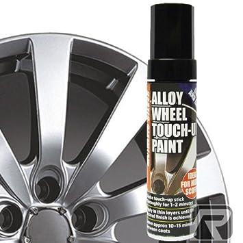 E-Tech - Lápiz profesional para retocar la pintura de las llantas de aleación del coche, color plata metalizado: Amazon.es: Coche y moto