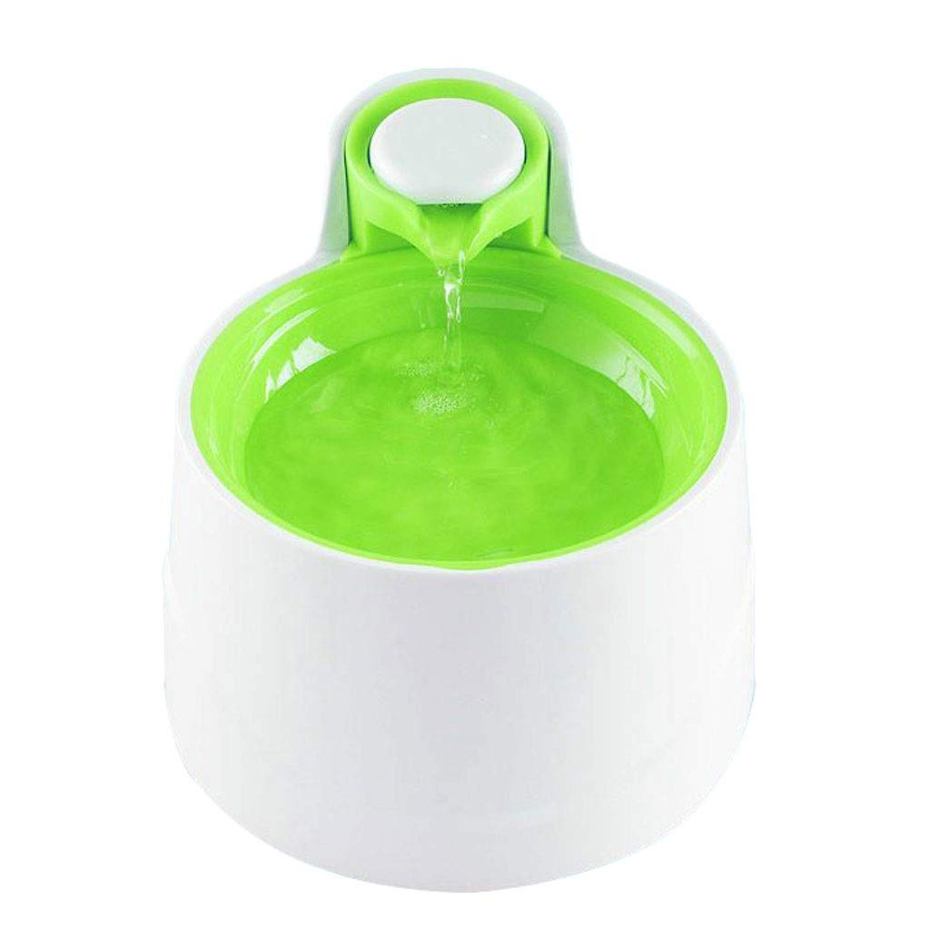 Green Lovingroy999 Pet Intelligent Electric Drinker, Loop Mute Five-layer Filter 2.5L, Suitable for Cats Dogs Large Medium and Small(Containing LED Nightlight) (color   Green)