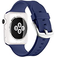 Apple Watch Sport Band 42mm, UMTELE Soft Silicone Replacement Band Sport Strap with Ventilation Holes for Apple...