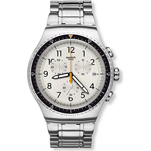 Swatch Irony Minimalis-Tic Silver Dial Stainless Steel Men's Watch YOS453G ()