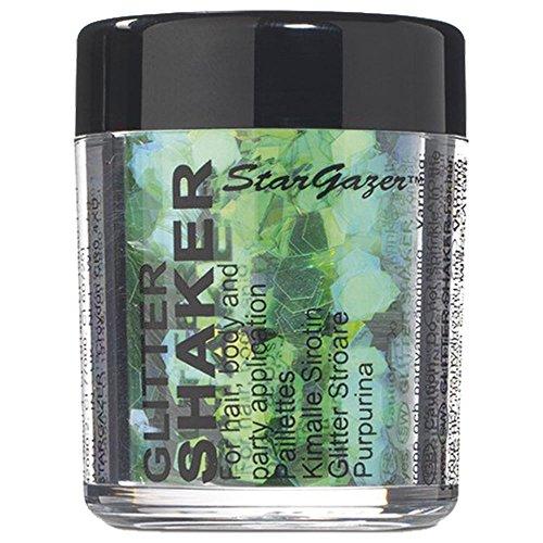 Stargazer Chunky Glitter Shaker - UV Green 5g (For Hair, Body and Party) -