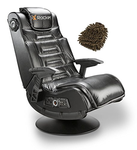 51396 Pro Series X Rocker Pedestal 2.1 Video Gaming Chair, Wireless (Complete Set) w/ Gift: Premium Microfiber Cleaner