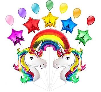 Meersee Globos Unicornio Helio, Globo de Aluminio Gigante Unicornio para Cumpleaños Decoración de Fiesta