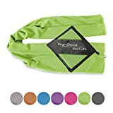 Cooling Towel for Instant Relief- Cool Workout Towel for Fitness, Yoga, Golf, Exercise, Gym, Bowling, Football, Tennis & Other Sports Green 16x40 Inch