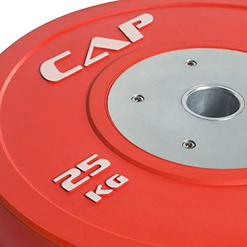 Cap Barbell Olympic 2 Inch Rubber Bumper Plate With Steel