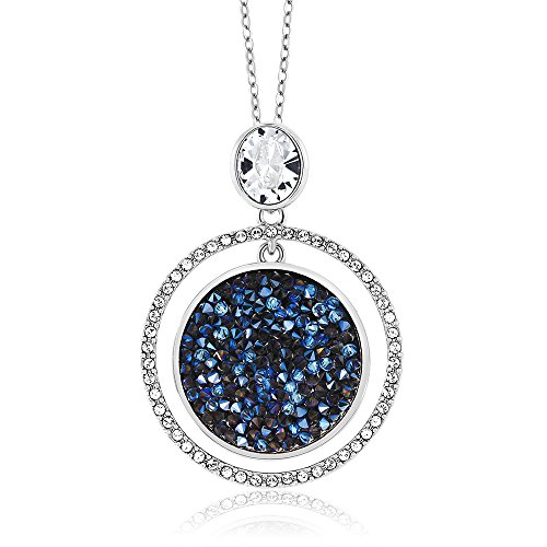 """Gem Stone King 2"""" Moonlight Crystal Dust Double Circle Pendant Made with Swarovski Crystals from Gem Stone King"""