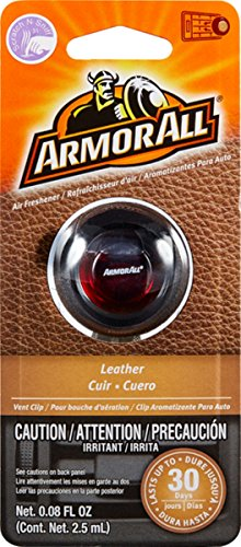 Armor All 17802 Air Freshener, Leather Scent, Vent Clip, 1