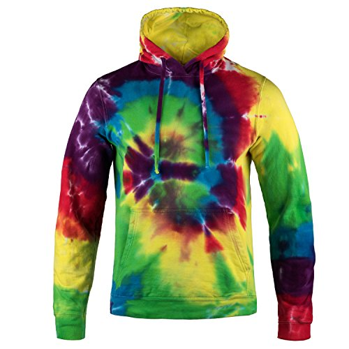 Magic River Tie Dye Hooded Sweatshirt - Classic Rainbow - Adult XXXLarge Hoody