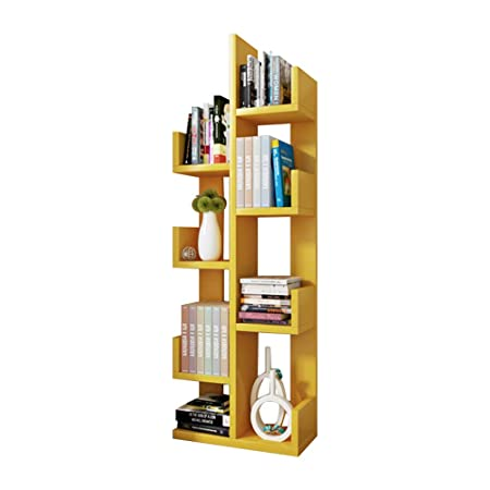 3d8757d72680e2 Shelving MEIDUO 8-Shelf Kids Bookshelf with Storage, Modern Solid Wood  Bookcase Shaped Rack Organizer in 9 colors very durable (Color : Yellow):  ...