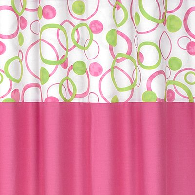 Amazon Sweet Jojo Designs Circles Pink And Green Kids Bathroom Fabric Bath Shower Curtain Home Kitchen