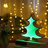 Tuscom time Tunnel Mirror Modeling Light Decorative|Marquee LED Bedroom Night Light |Battery Wall Lamp Party/Christmas Tree Dorm/Room Decorations (7 Colors) (E)
