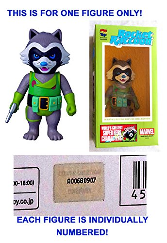 Collection Rocket Retro (Rocket Raccoon Sofubi 10 Inch Vinyl Figure - Marvel Retro Collection 2014 - MEDICOM - Numbered W/ Holo Medi com Foil Seal! Factory-Sealed UNCIRCULATED (Rocket is actually 6 inches tall))