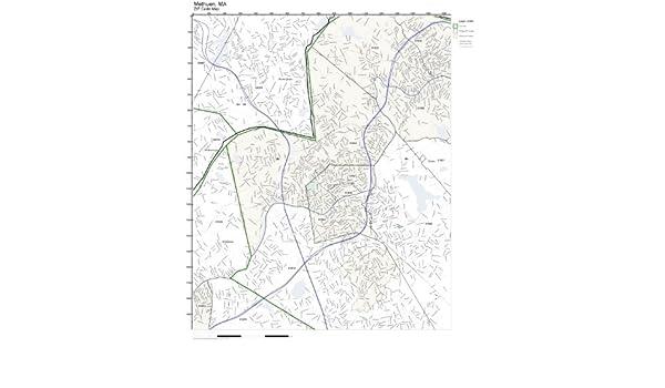 Methuen Ma Zip Code Map.Amazon Com Zip Code Wall Map Of Methuen Ma Zip Code Map Not