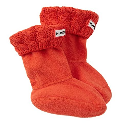 Hunter Cable Knit Cuff Welly Socks (Large)