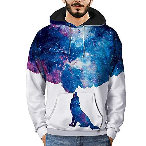 WOCACHI Unisex 3D Novelty Hoodies Galaxy Hoodies Sweatshirt -