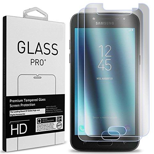 Samsung Galaxy J2 Pro 2018 Screen Protector, Galaxy Grand Prime Pro Screen Protector, CoverON [2 Piece] Slim Tempered Glass Screen Protectors for Samsung Galaxy J2 Pro 2018 / Grand Prime Pro - Clear