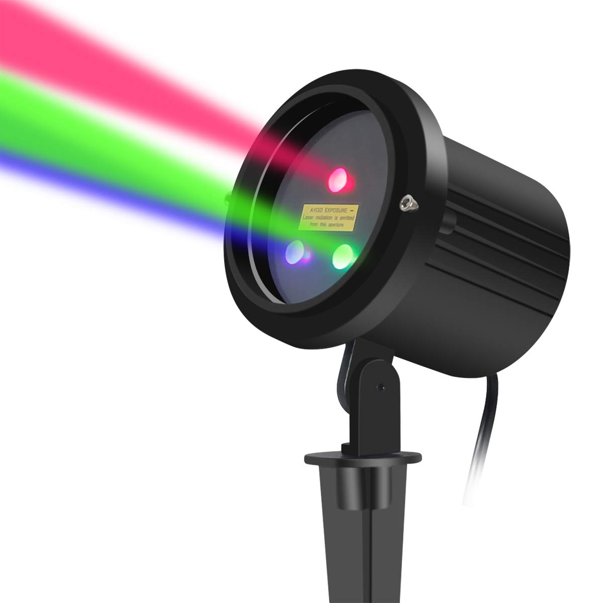 Christmas Laser Lights Outdoor RGB Moving Stars Garden Laser Light Projector LSIKA Z Aluminum Waterproof Motion Laser Christmas Lights Outdoor Projector with RF Remote